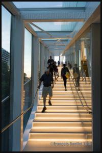Escalier extérieur du Pavillon Pierre Lassonde du Musée National des Beaux-Arts de Québec lors de l'ouverture officielle en juin 2016