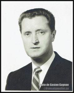 Gaston Gagnon, durant la période où il servait en tant que militaire canadien dans le domaine des communications, à la station de Frobisher Bay au Canada (ligne Pinetree) vers 1955. Il est décédé en 2016.