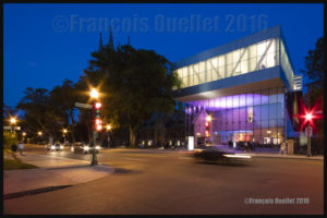 Ouverture officielle du Pavillon Pierre Lassonde du Musée National des Beaux-Arts de Québec vu de la Grande Allée le 24 juin 2016