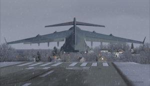 Avion militaire canadien C17-A décolle piste 10 à l'aéroport virtuel de Block Island (KBID) aux États-Unis (FSX)