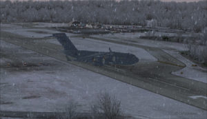 Avion militaire canadien C17-A quitte la piste 10 à l'aéroport virtuel de Block Island (KBID) aux États-Unis (FSX)