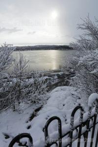 La Ville de Québec en hiver, dans le secteur de Cap-au-Diable (2016)