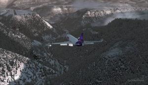 Un MD-11 de FedEx en finale piste 09 pour l'aéroport de Telluride (KTEX) (FSX)