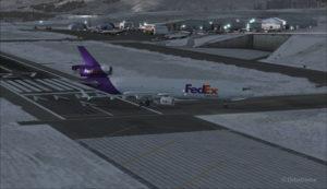 Un MD-11 de FedEx quitte la piste 09 à l'aéroport de Telluride (KTEX) (FSX)