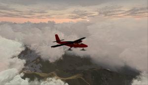 Twin Otter au-dessus des Andes en montée pour 17,000 pieds