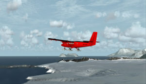 La station de recherche antarctique de Rothera est en vue