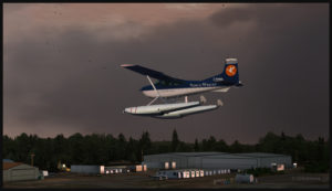 Cessna 185F virtuel C-GNWA en finale pour Roberts Lake (CRL8) en Ontario