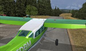 Prêt pour le décollage de la piste de Limberlost Ranch