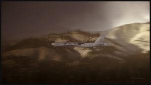 Le B-52 virtuel à haute vitesse et basse altitude dans le sud de la Californie