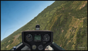 Dernier virage serré pour un atterrissage court sur la piste en pente de Fane Parish