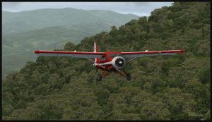 Le Otter dans les montagnes de la Nouvelle-Guinée, suivant la piste de Kokoda.