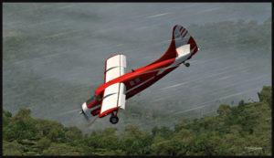 Perte d'altitude en respectant la limite des volets.