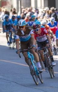 Grand Prix Cycliste Québec 2018 virage Côte de la Fabrique.