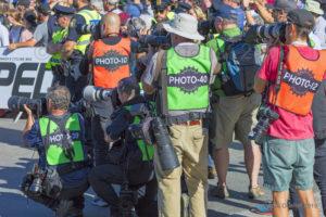 Quelques photographes présents lors du Grand Prix Cycliste de Québec 2018.