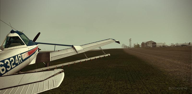 Cessna C188B Agtruck virtuel près de Claresholm Industrial Park en Alberta, Canada.