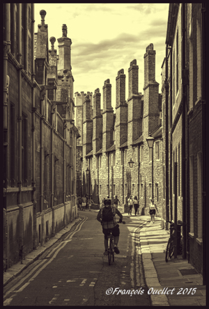 Ruelle de Cambridge, Royaume-Uni.