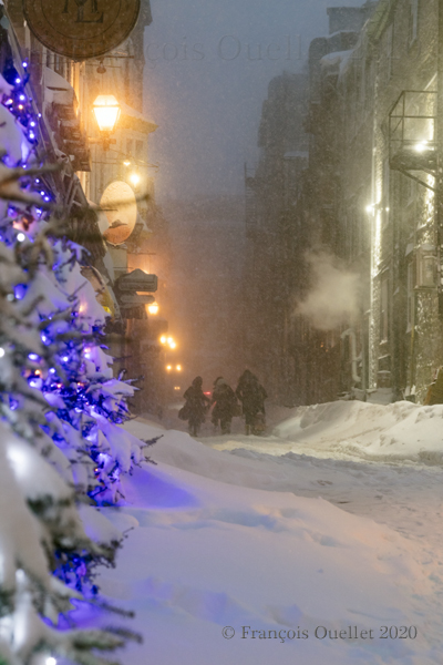 Ruelle du Vieux-Québec hiver 2020