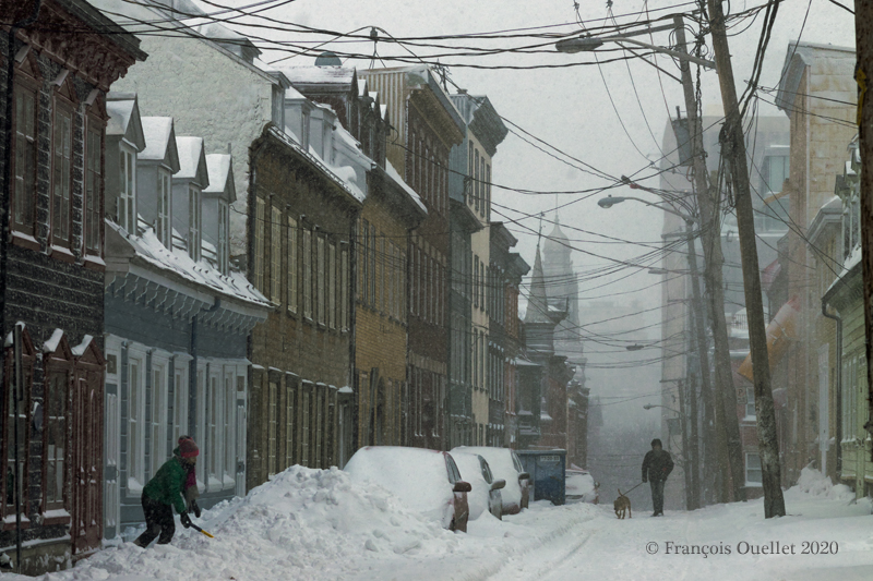 A street of Quebec City in February 2020.