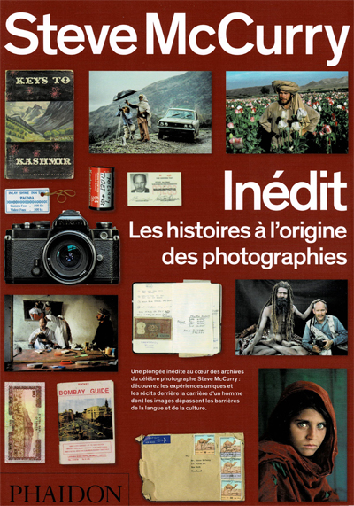 Page couverture du livre de photographie de Steve Mc Curry