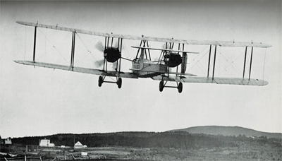 The Vickers-Vimy departs from Newfoundland in 1919