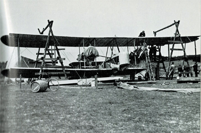 The Vickers-Vimy is being reassembled at Quidi Vidi in Newfoundland.