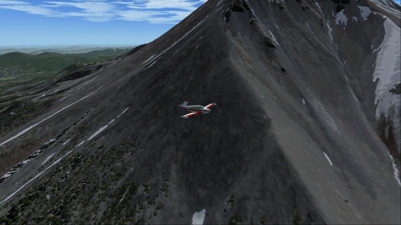 Autour de Mount Shasta avec le Bonanza de la compagnie A2A.
