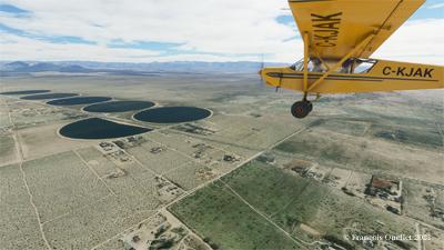 Le Zlin Savage Cub en vol aux États-Unis avec le simulateur de vol Microsoft Flight Simulator 2020.