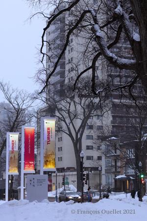 L'exposition Turner au MNBAQ à Québec en 2021.