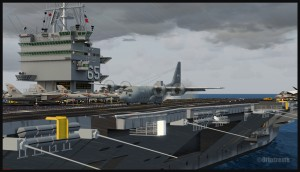 19440-Canadian-C130-on-deck-of-aircraft-carrier-Enterprise-FSX-web