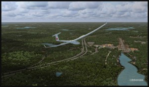 19531-Glider-on-final-for-the-Parry-Sound-airport-runway-fsx