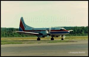 Photos sur film, partie 3 de 3: avions et hélicoptères vus à Rouyn-Noranda entre 1986-88