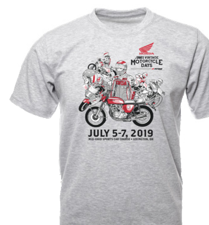2019 AMA Vintage Motorcycle Days T-shirt