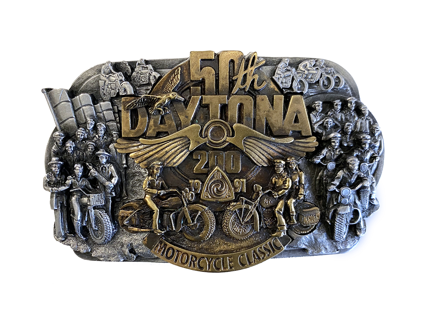 50th Daytona 200 Motorcycle Classic Belt Buckle