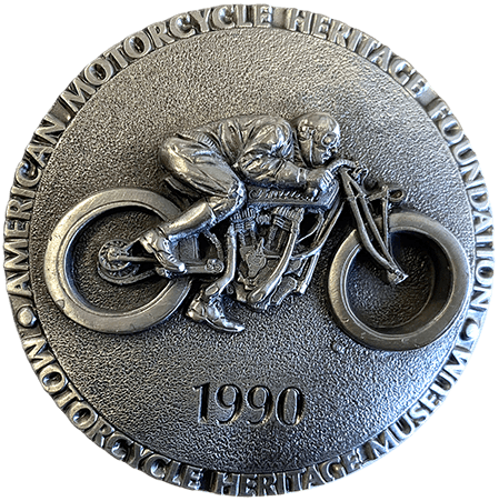 1990 American Motorcycle Heritage Foundation Belt Buckle