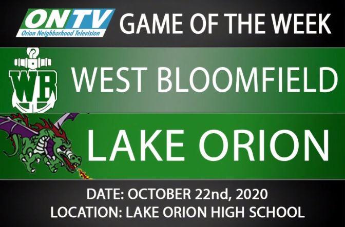 Watch Lake Orion JV Football 10/22/2020