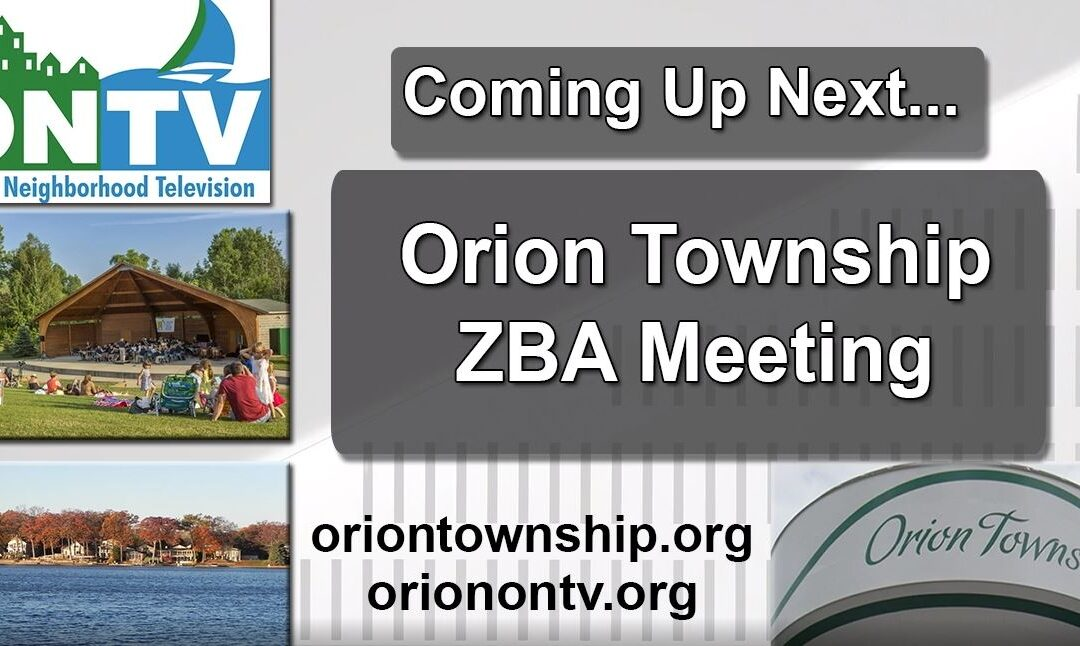 Orion Township ZBA Meeting of 10/26/20