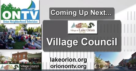 The Lake Orion Village Council Meeting of 11-23-20
