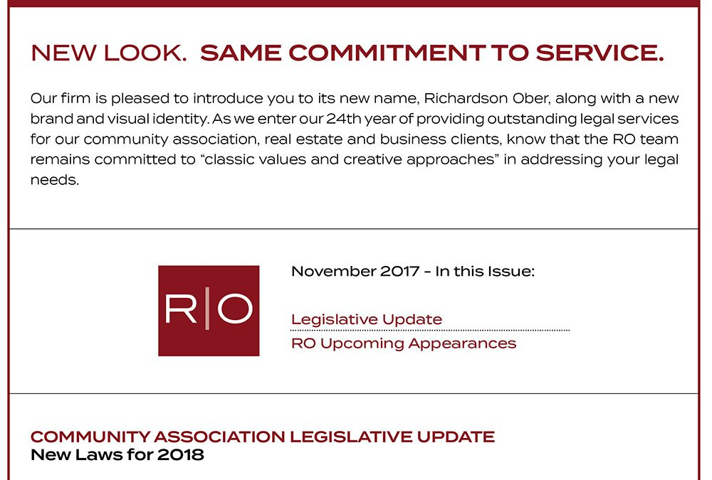 Read the November 2017 issue of the RO Newsletter