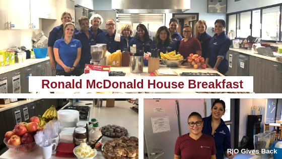 R O Joins CAI-GLAC's Outreach Committee to Make Breakfast for Ronald McDonald House Families