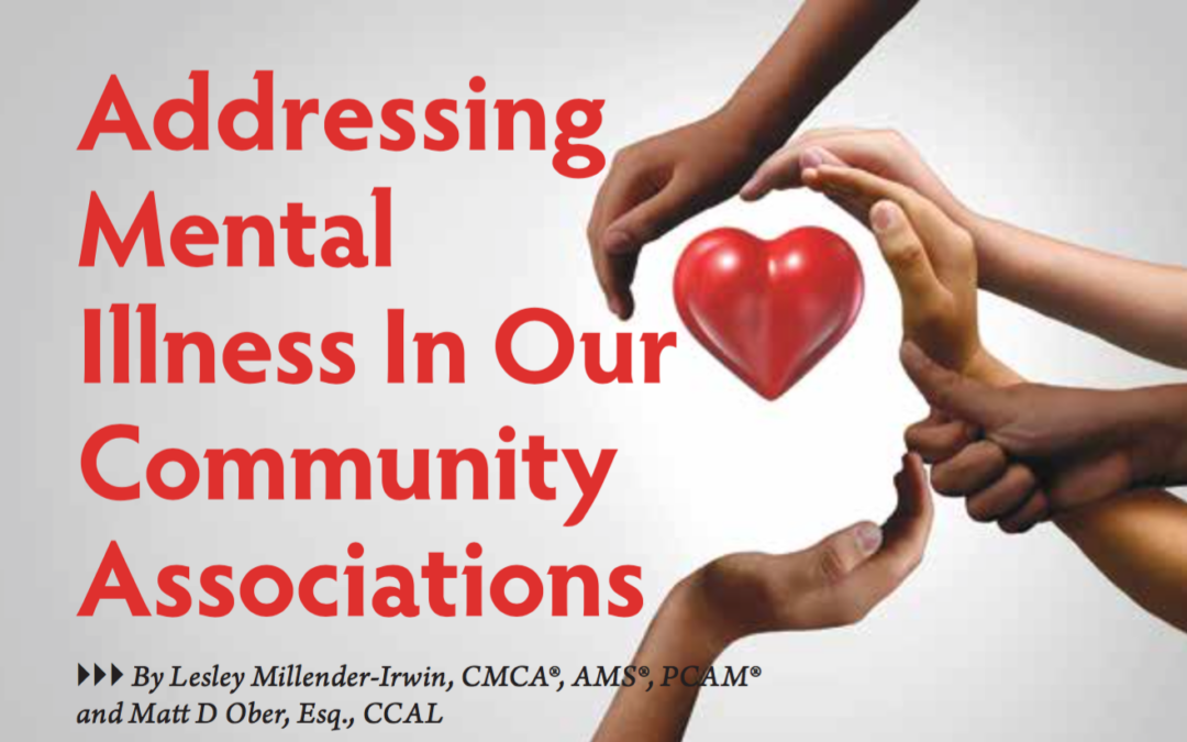 Addressing Mental Illness In Our Community Associations