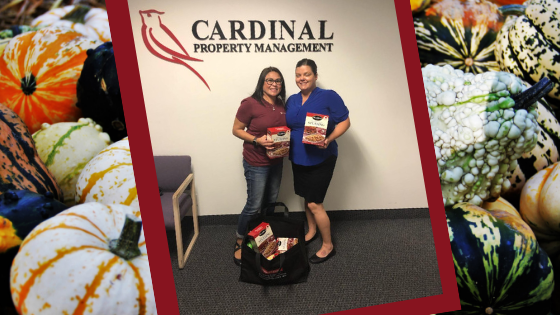 R|O Joins Cardinal Property Management's Thanksgiving Basket Brigade