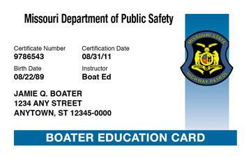 Missouri Boater License