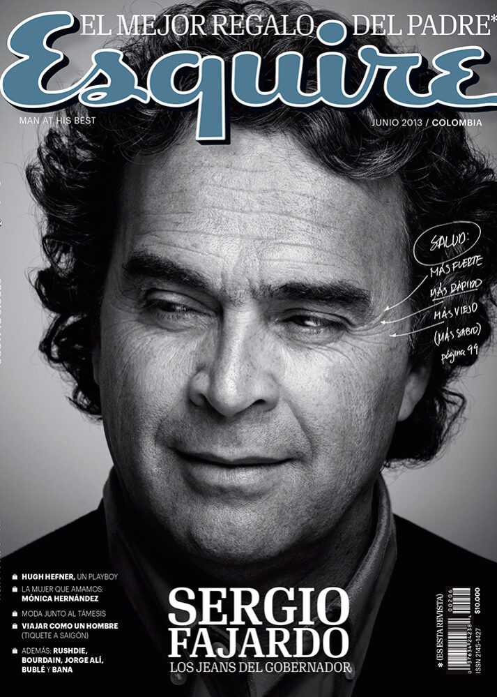Sergio Fajardo esquire cover colombia ricardo pinzon