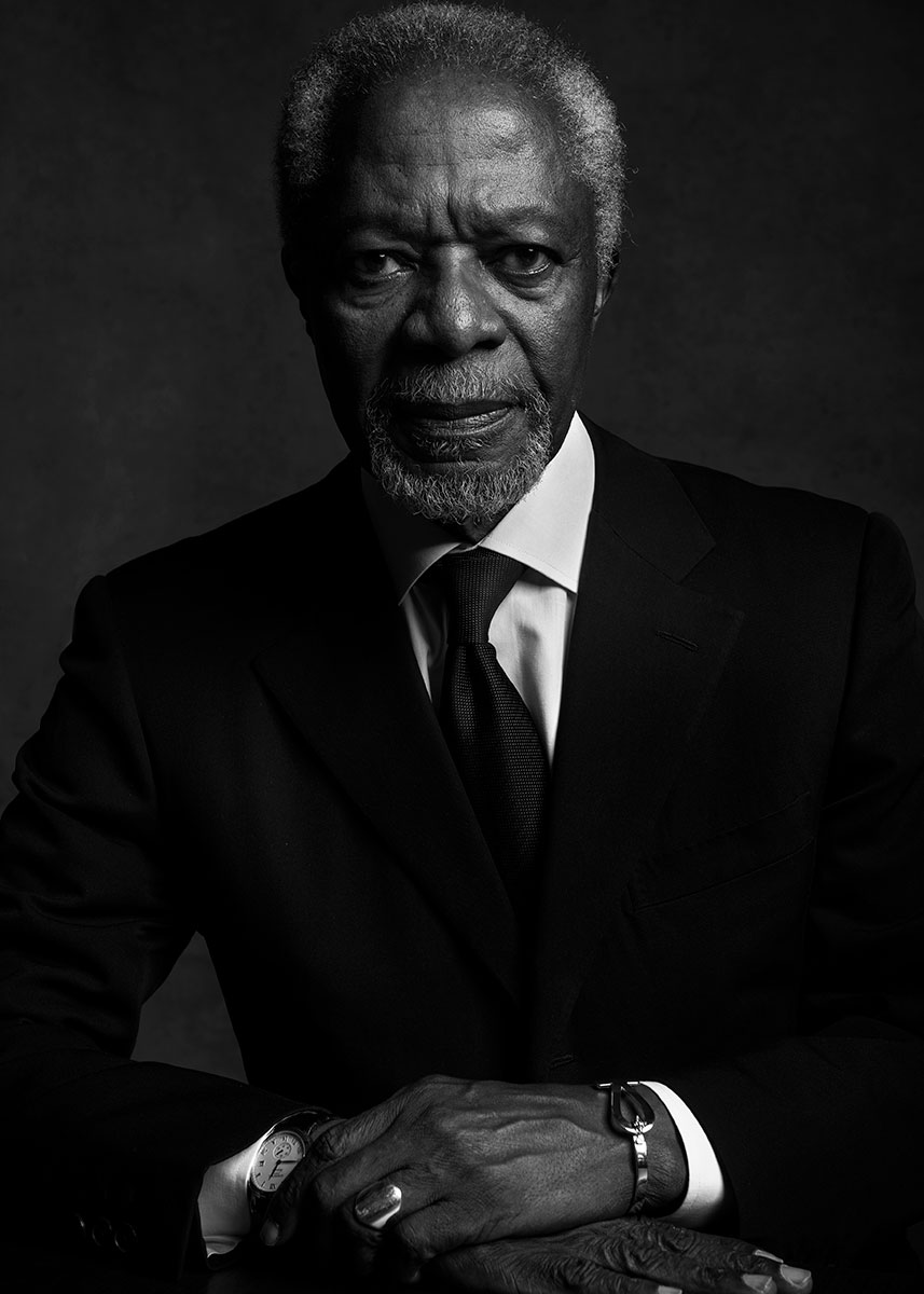 kofi annan by ricardo pinzon for vanity fair uk