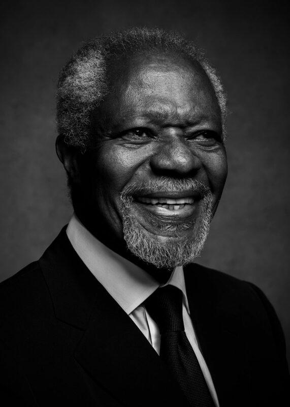 Kofi Annan vanity fair portraits