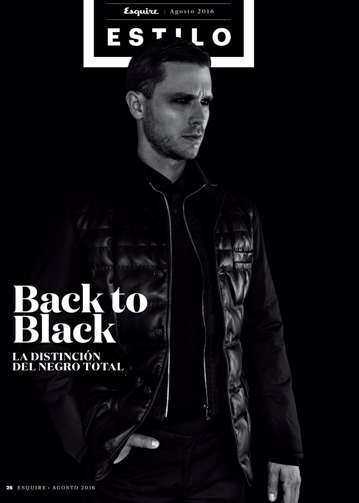 Back to Black/Fashion editorial for Esquire Colombia 1
