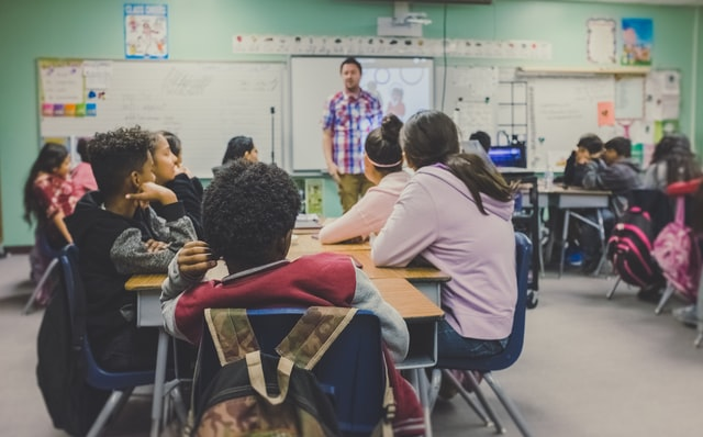 Children listening to class