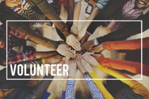 volunters- joining hands
