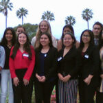 2019 Kiwanis Club of RHE Scholars pose for group photo with Dr. Joyce Campbell outside Los Verdes Golf Club
