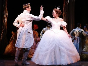 Cinderella becomes a princess in Broadway musical in NYC.